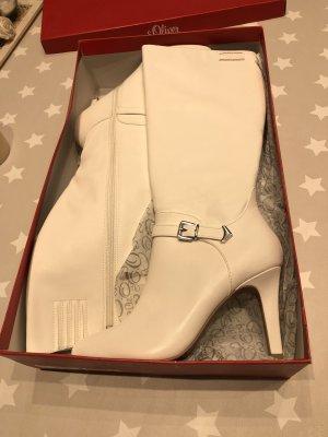 Stiefel von s.Oliver / Leder / Weiß gr.40, neu