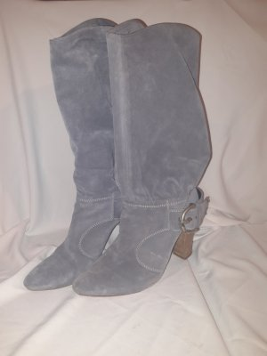 Vic Matie Slouch Boots light grey-slate-gray