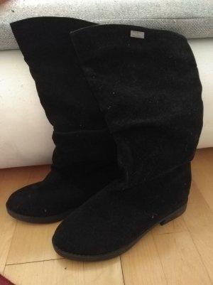Bottes plissées noir