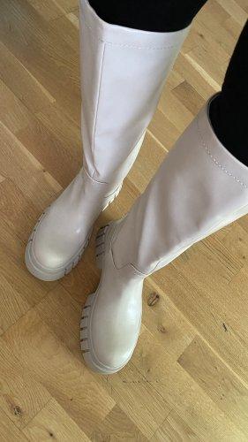 Zara Platform Boots natural white