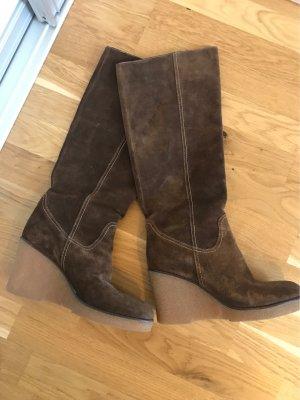 Laura Platform Boots light brown