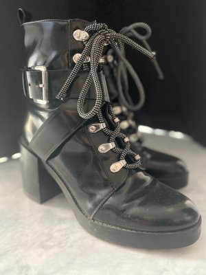 Zara Stivale con tacco nero-argento