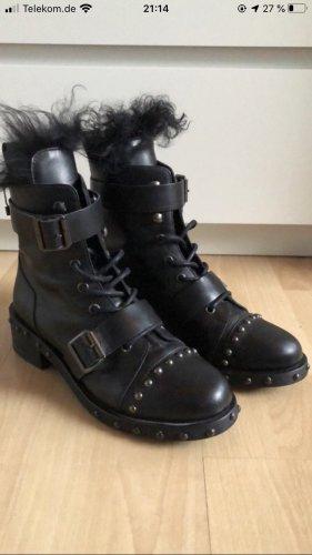 Stiefel zara schwarz 38 Fell