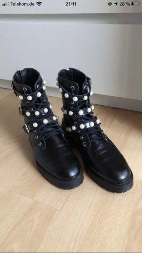 Stiefel Zara schwarz Perlen 37