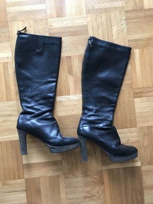 High Heel Boots black-grey