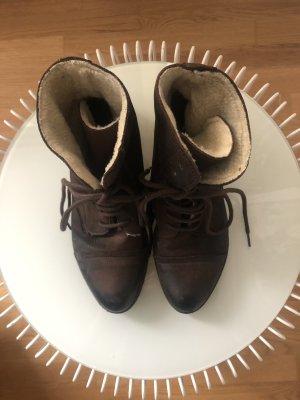 Stiefel | zum schürren | Braun