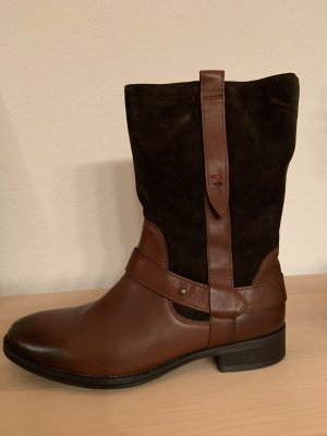 Tommy Hilfiger Winter Booties brown-cognac-coloured leather