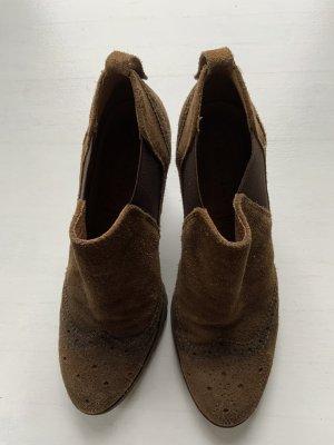 5th Avenue Slip-on Booties ocher leather
