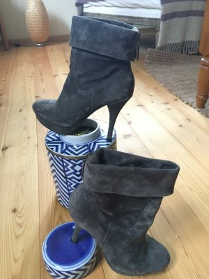 5th Avenue Platform Booties grey leather