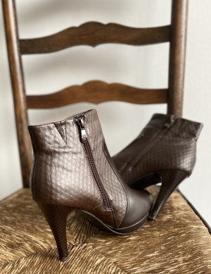 100% Fashion Winter Booties brown leather