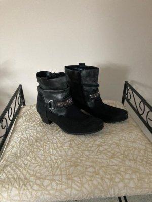 Winter boots zwart Leer