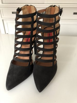 London Rebel Cut Out Booties black