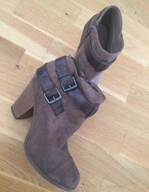 Graceland Botines estilo vaquero marrón claro-marrón