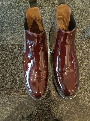Pertini Wciągane buty za kostkę bordo