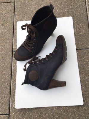 Paul Green München Platform Booties dark blue-dark brown