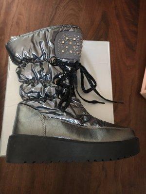 Buty zimowe srebrny