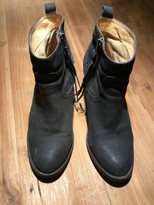 Stiefelette Ankleboots schwarz Rauleder Buffalo Gr. 38