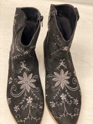 Catwalk Botines estilo vaquero gris antracita-gris claro