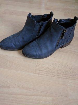 Stiefelette Chelsea Boots Blau Leder Gr 39