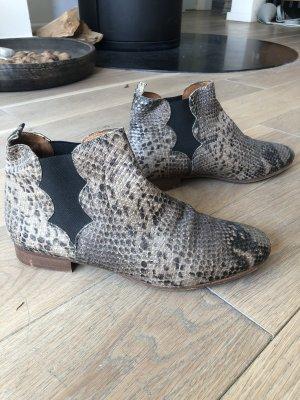 Stiefelette Chelsea Boots Schlange Kroko