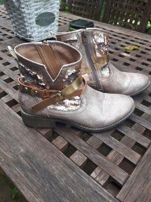 Cm Laufsteg Zipper Booties bronze-colored-rose-gold-coloured