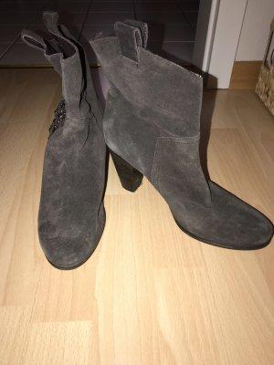 di Lauro Slip-on Booties taupe-dark brown