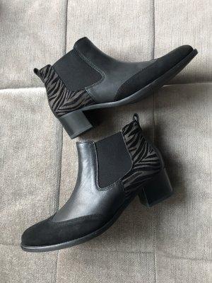 Gabor Wciągane buty za kostkę czarny