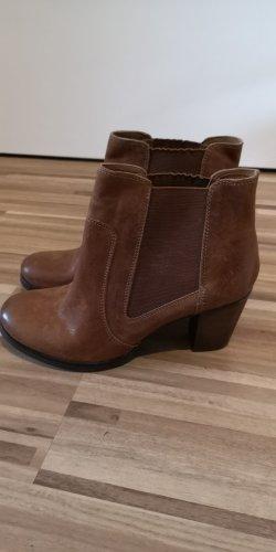 Belmondo Slip-on Booties brown-cognac-coloured