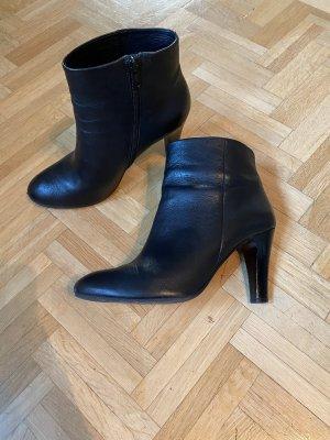 Stiefelette Hallhuber, schwarz, Leder, 40, Absatz 8cm