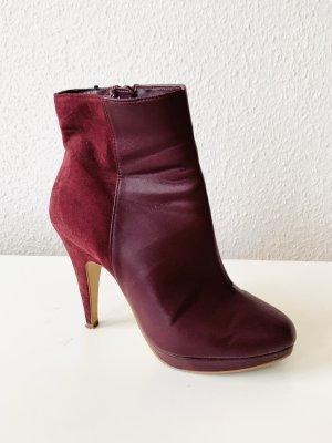 Stiefelette / High Heels Bordeaux Gr. 39 von H&M