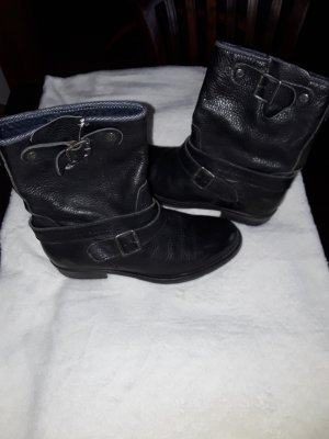 Botas deslizantes negro Cuero