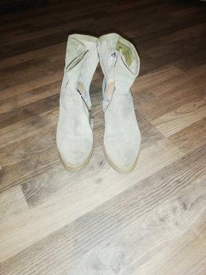 I am walking Western Booties sage green