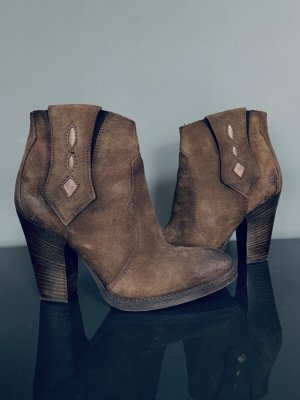 Cafènoir Zipper Booties light brown-brown