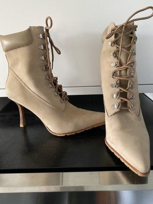 Skechers Lace-up Booties sand brown leather