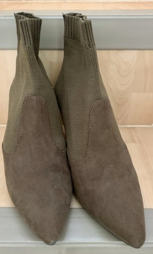 Tamaris Bottines à enfiler kaki-vert olive