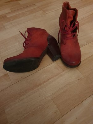 Air Step Lace-up Booties cognac-coloured-brick red