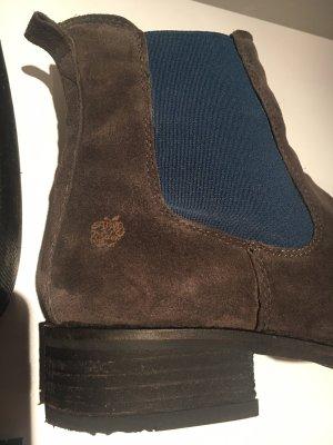 Stiefelette - Leder - grau/blau