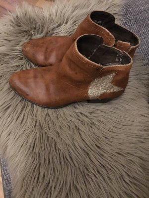 Marco Tozzi Western Booties brown-silver-colored