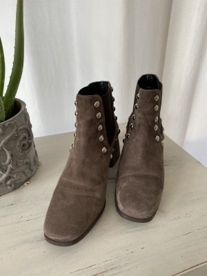 Phillip Hardy Paris Bottines à enfiler gris brun-taupe cuir