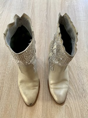 Bullboxer Slip-on Booties silver-colored