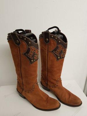 Boutique Moschino Botki w stylu western brązowy-ciemnobrązowy