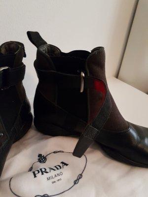 Prada Slip-on Booties black-brown