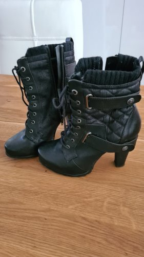 Bull Boxer Lace-up Booties black