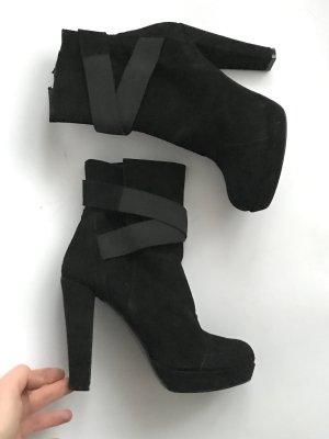 Stiefelette Stiefel Gr 39 Atos Lombardini Italien Designer schwarz Party Vintage