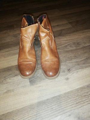 Tom Tailor Botines estilo vaquero marrón claro