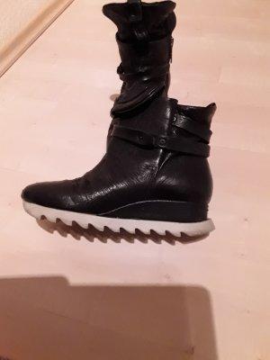 Air Step Laarsjes met sleehak zwart