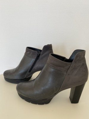 Paul Green Platform Booties dark grey-taupe leather