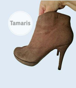 Stiefelette von Tamaris Kurz Velour-Optik Sommer Herbst Look- Neuwertig