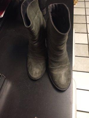Vic Matie Botas deslizantes gris claro-gris Cuero