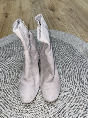 H&M Premium Platform Booties dusky pink